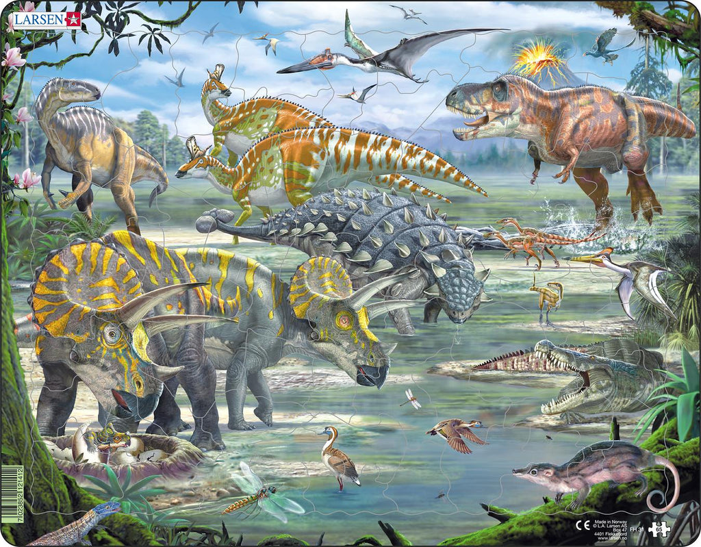 Larsen Dinosaurs Puzzle 65 pce - educationaltoys.ie