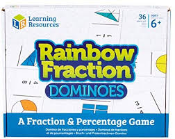 Learning Resources Rainbow Fraction Dominoes - educationaltoys.ie