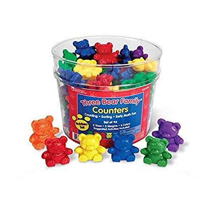 Three Bear Family Counters Set 80 - educationaltoys.ie