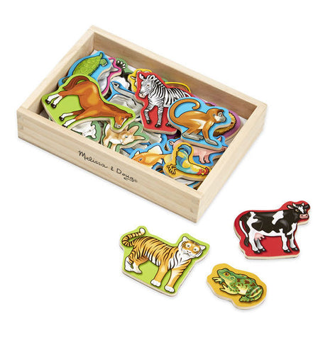 Magnetic Wooden Animals - Melissa & Doug - educationaltoys.ie