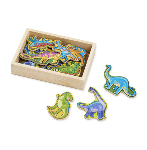 Magnetic Wooden Dinosaurs  -Melissa & Doug - educationaltoys.ie