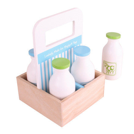 Milk Delivery BJ453 - wooden play food - educationaltoys.ie