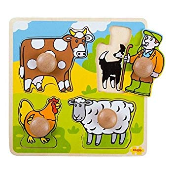 My First Peg Puzzle Farm BJ520 - educationaltoys.ie