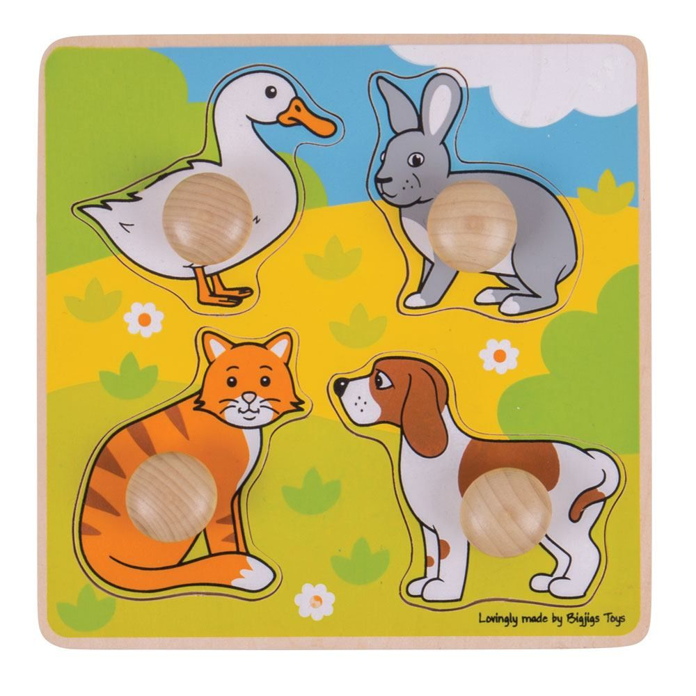 My First Peg Puzzle Pets BJ224 - educationaltoys.ie
