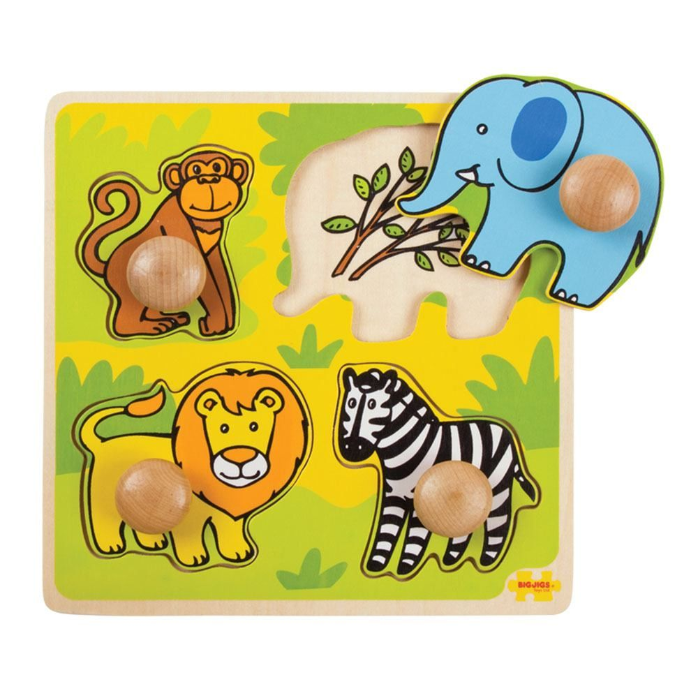 My First Peg Puzzle Safari - educationaltoys.ie