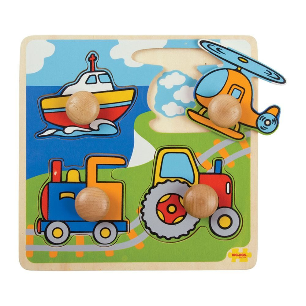 My First Peg Puzzle Transport - educationaltoys.ie