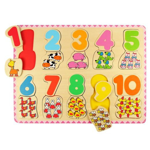 Number & Colour Matching Puzzle BJ549 - educationaltoys.ie