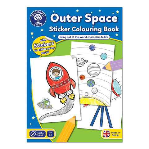 Outer Space Sticker Colouring Book - educationaltoys.ie