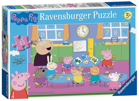 Peppa Pig Classroom Fun 35 pce floor puzzle -educationaltoys.ie