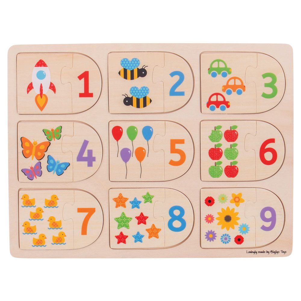 Picture & Number Matching Puzzle BJ535 - educationaltoys.ie