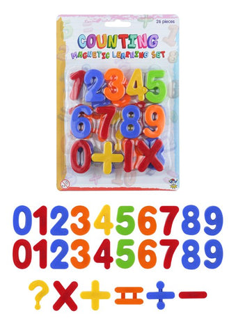 26 Piece Plastic Magnetic Numbers Set - educationaltoys.ie