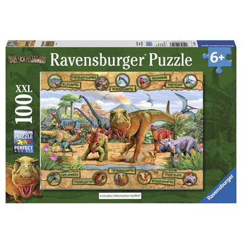 Ravensburger Dinosaurs XXL 100 Pce Puzzle - educationaltoys.ie