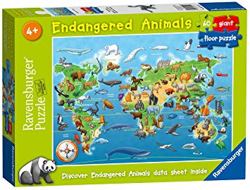 Ravensburger Endangered Animals 60 pce Giant Floor Puzzle