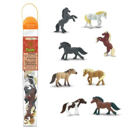 Safari Ponies Toob - educationaltoys.ie
