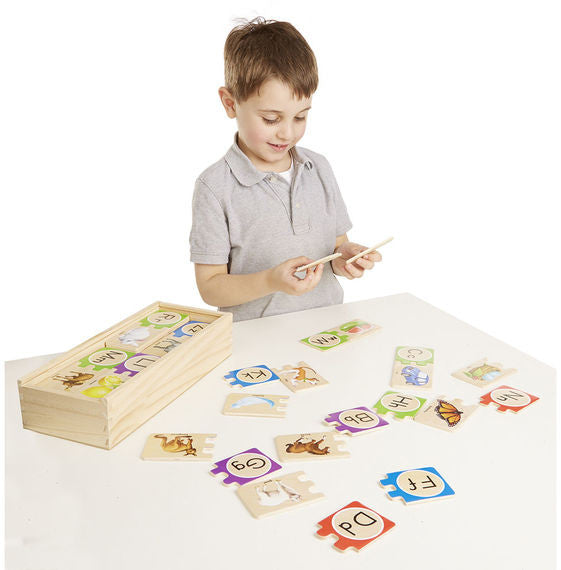 Self Correcting wooden Alphabet Puzzle - educationaltoys.ie