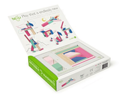 Tegu Blossom 14 piece magnetic wooden blocks set - educationaltoys.ie