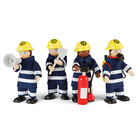 Tidlo Wooden Firefighters - educationaltoys.ie