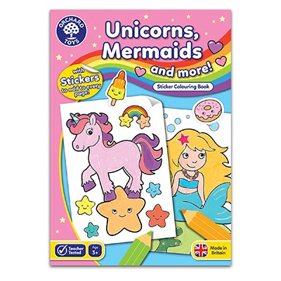 Colouring Book Unicorns and Mermaids Colouring Book - educationaltoys.ie