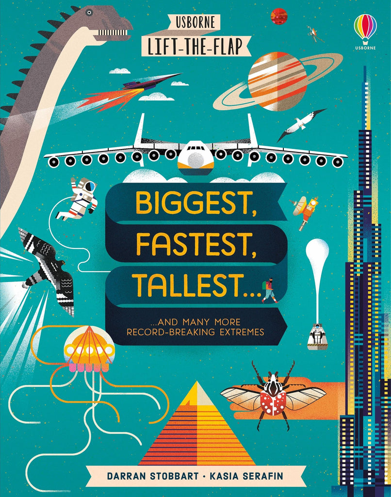 Usborne Lift The Flap Biggest Fastest Tallest - educationaltoys.ie