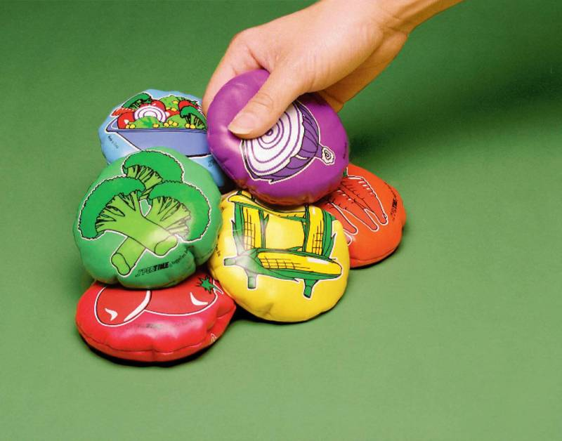 Spordas Veggie Toss Bean Bags set 6 - educationaltoys.ie