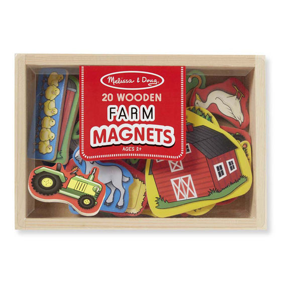 Wooden Farm Magnets - Melissa & Doug - educationaltoys.ie