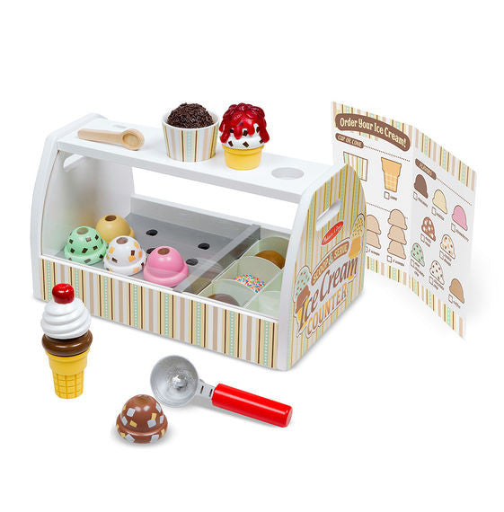 Melissa & Doug Wooden Ice Cream Counter - educationaltoys.ie