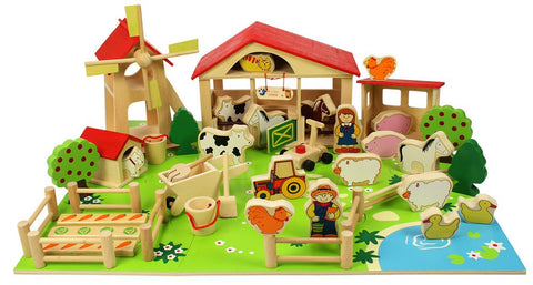 Bigjigs Wooden Play Farm BJ415 - educationaltoys.ie