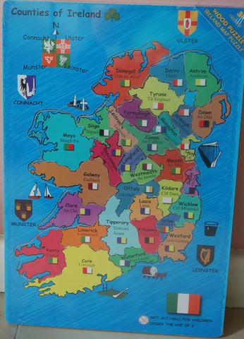 Ireland Wooden Map Puzzle - educationaltoys.ie