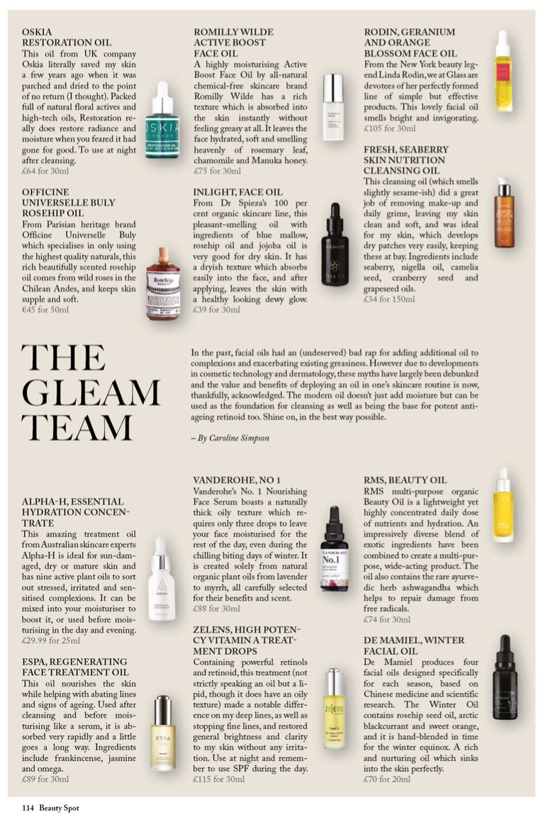 GLASS MAGAZINE - ACTIVE BOOST FACE OIL – Romilly Wilde