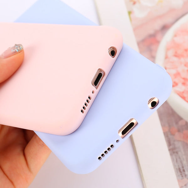 Candy pastel Case for Huawei Y6 Y5 Prime 2018 P20 P9 P10 Mate 10 Lite Honor 10 9 Lite 7C 7A Pro 8X 8C P Smart Soft Silicon Cases