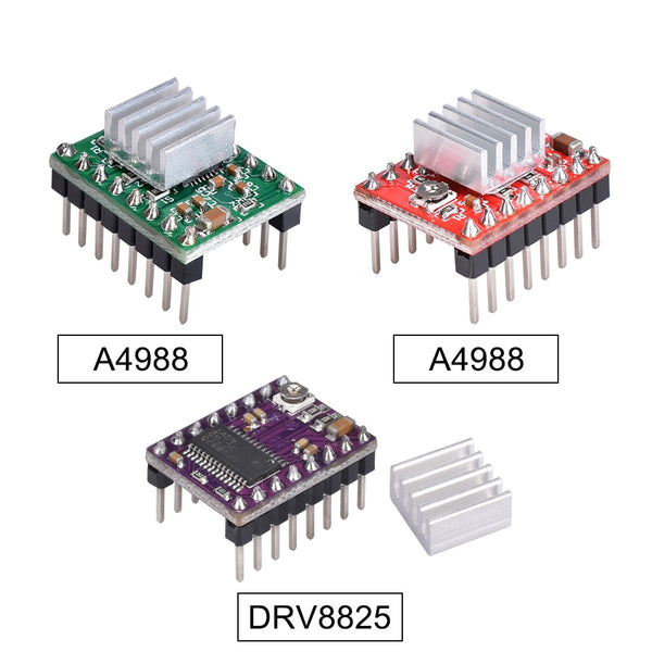 3D Printer Parts StepStick A4988 DRV8825 Stepper Motor Driver With Heat sink Carrier Reprap RAMPS 1.4 1.5 1.6 MKS GEN V1.4 board