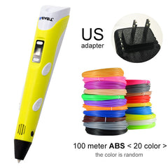 Myriwell 3D Pen LED Screen DIY 3D Printing Pen 100m ABS Filament Creative Toy Gift For Kids Design Drawing