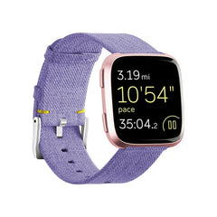 Fitbit Versa Nylon Strap Durable Fashion Fabric Sport Replacement Wristband