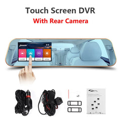 Dashcam Car Camera rearview mirror Touchscreen Car Dvr HD 1080P Camera