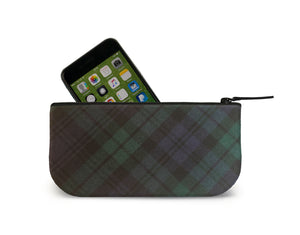 Blackwatch Tartan Mini Clutch Open View