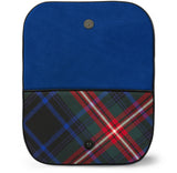 Braveheart Tartan Suede Clutch Bag Open View