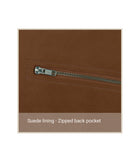 Brown Suede Back Pocket