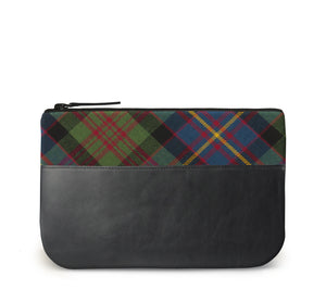 Cameron Tartan Leather iPad Case Front View