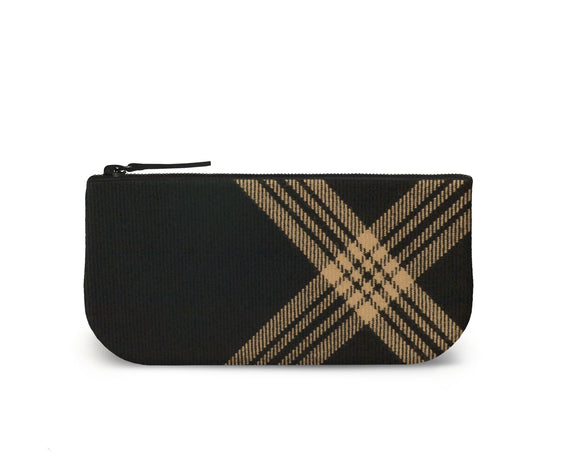 Celtic Black Tartan Mini Clutch Front View