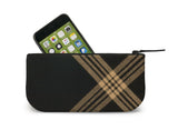 Celtic Black Tartan Mini Clutch Open View