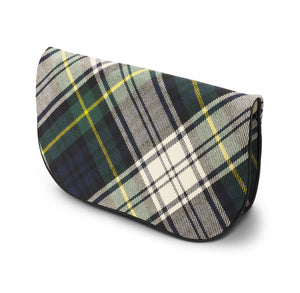 Gordon Tartan Suede Clutch Bag Side View