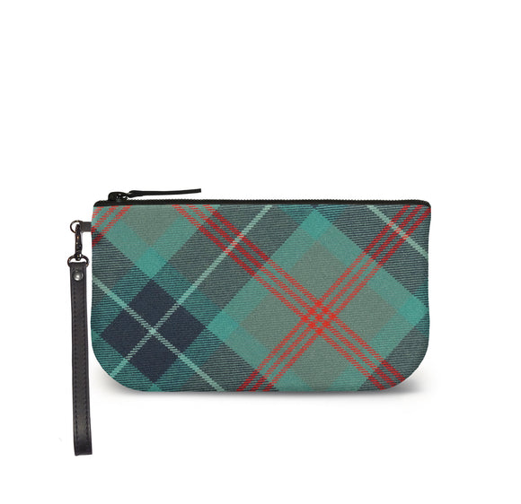 Loch Ness Tartan Plaid Small Clutch Front View