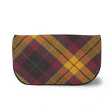 MacMillian Tartan Suede Clutch Bag Front View