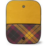 MacMillian Tartan Suede Clutch Bag Open View