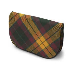 MacMillian Tartan Suede Clutch Bag Side View