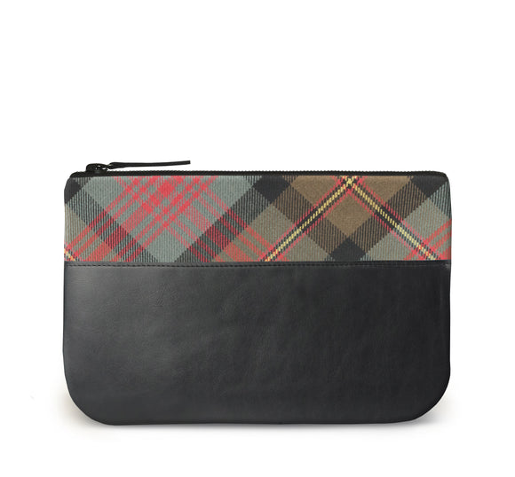 Maclennan Tartan Leather iPad Case Front View