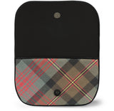Maclennan Tartan Suede Clutch Bag Open View