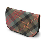 Maclennan Tartan Suede Clutch Bag Side View