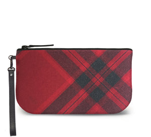 Mary Queen of Scots Tartan Wristlet Clutch Front View