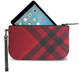 Mary Queen of Scots Tartan Wristlet Clutch Open View